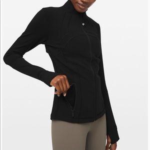 Lululemon black zip up yoga jacket
